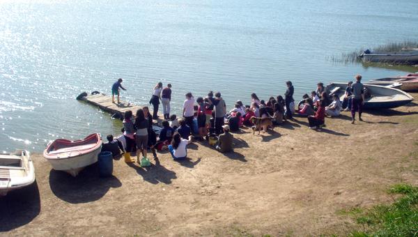 Actividad de campo en la Laguna de Chascomús